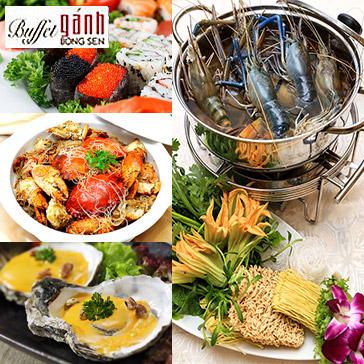 Buffet Trưa Gánh Bông Sen 4* - Hải Sản 3 Miền Tại Phố Đi Bộ Nguyễn Huệ