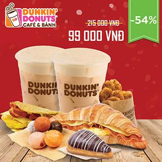 Combo Giá Sốc Mừng Năm Mới Tại Hệ Thống Dunkin' Donuts – Thương Hiệu Mỹ Lừng Danh Thế Giới