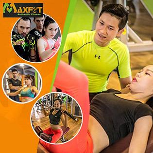 Thẻ 2 Tuần Tập Gym, Yoga & 8 Môn Group X Không Giới Hạn Thời Gian Tập + Tặng Thêm Ưu Đãi Hấp Dẫn - CLB Maxfit Đẳng Cấp Quốc Tế