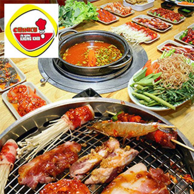 Buffet Trưa/Tối Nướng Lẩu 40 Món Hải Sản & Bò Mỹ Cao Cấp Tại Nhà Hàng Chinku (Không Phụ Thu VAT)