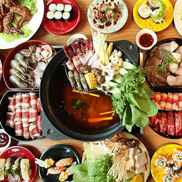 Buffet Tối Lẩu Băng Chuyền & Sushi Nhật, Free Buffet Kem, Tráng Miệng, Món Ăn Kèm - Tokyo Ginza Koma