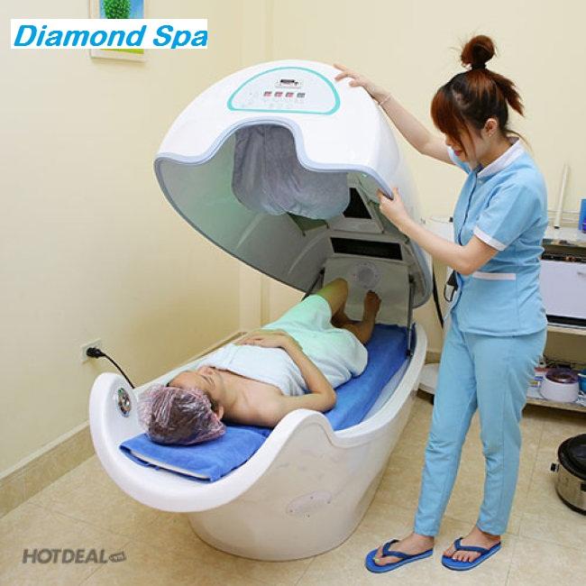 Diamond Spa - Tắm Trắng Nano Cao Cấp Kết Hợp Phi Thuyền, Tặng Massage Mặt Thư Giãn