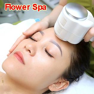 Hút Chì + Phun Oxy Tươi Và Vitamin C + Đắp Mặt Nạ + Ánh Sáng Sinh Học - Flower Spa