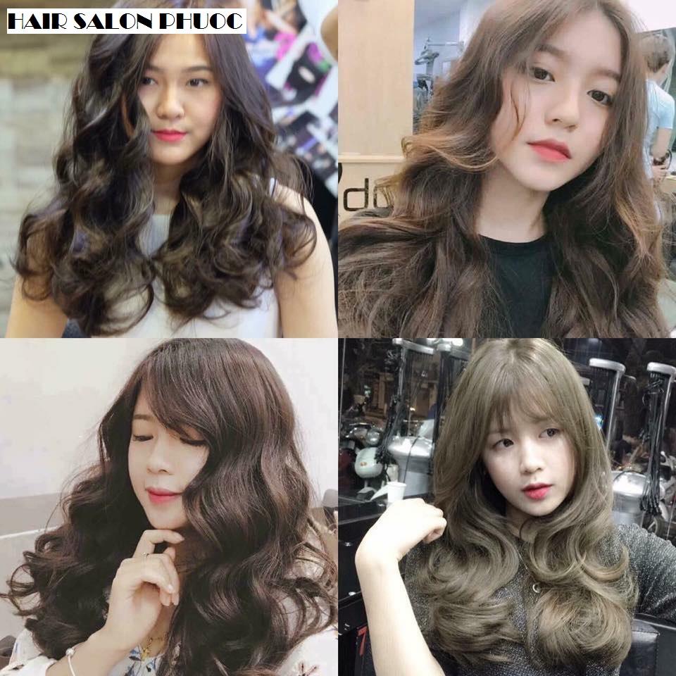 Trọn Gói Làm Tóc Cao Cấp Chuẩn Style 2018 Uốn/ Duỗi/ Nhuộm/ Bấm/Phục Hồi + Cắt + Gội + Sấy Tạo Kiểu - Hair Salon Phước