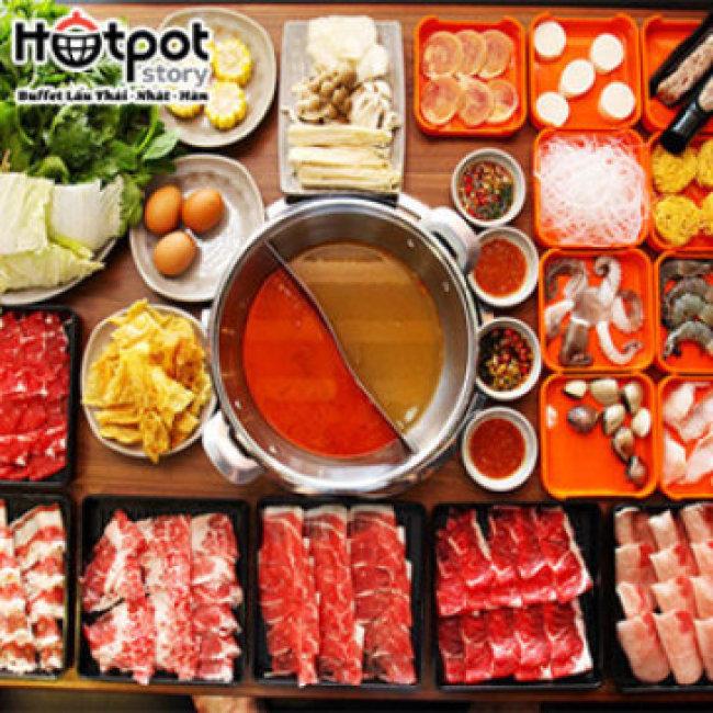 Hotpot Story Phan Văn Trị- Buffet Tinh Hoa Lẩu Hải Sản Hơn 100 Món - Không Phụ Thu Cuối Tuần