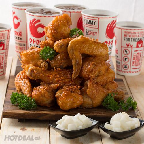 hỆ thỐng gÀ rÁn otokÉ chicken  combo 03 mÓn gÀ hÀn quỐc