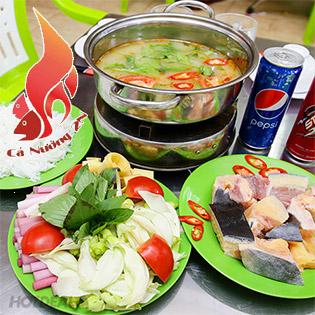 Combo Lẩu Cá Tra Dầu + Soft Drink Dành Cho 2-3 Người Tại NH Cá Nướng 2N