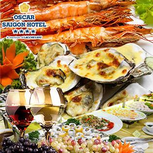 Buffet Tối T6, 7 & CN Hải Sản, Nướng Lẩu - Free Rượu Vang Tại Phố Đi Bộ Nguyễn Huệ - Oscar Saigon Hotel 4*