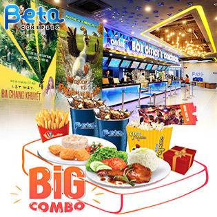 Big Combo 2 Vé Xem Phim Cực Hay Ăn Uống No Say – Hệ Thống Rạp Beta Cineplex Trên Toàn Quốc