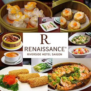 Áp dụng Lễ - Buffet Trưa/ Tối Dimsum + Hải Sản Đẳng Cấp 5 Sao Tại Renaissance Riverside Hotel Saigon - Gồm Nước Uống