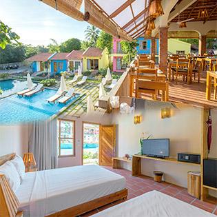 Daisy Village Resort Phú Quốc 3* – 2N1Đ Phòng Bungalow Garden View - Dành Cho 02 Người