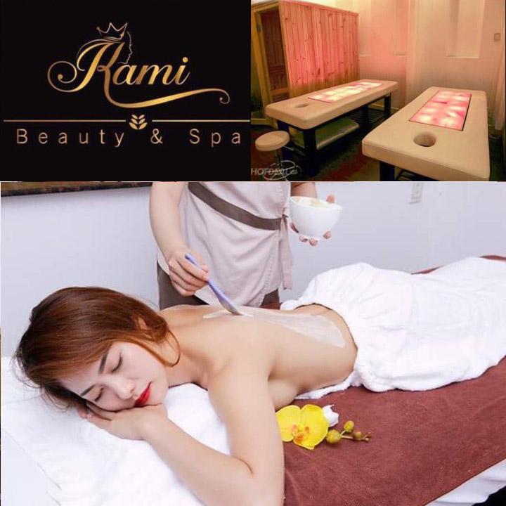 """Liệu Pháp Massage Body """"Giường Đá Muối Himalaya"""" + Sauna + Ấn Huyệt - Cải Thiện Sức Khỏe Tại Kami Beauty & Spa"""