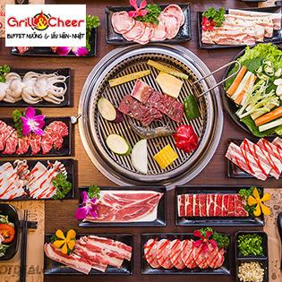 Buffet Thịt Nướng, Hải Sản Và Lẩu Hàn - Nhật Tại Grill & Cheer Buffet - Vincom Lê Văn Việt