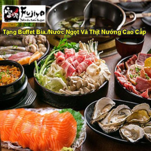 Fujiya Buffet Nhật Bản Hơn 200 Món Sashimi, Nướng, Lẩu, Hải Sản Cao Cấp Tại Vincom Center – Bao Gồm Nước