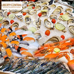 Buffet Tối Hải Sản, Sashimi Cao Cấp Liberty Riverside 4 - Từ Thứ 2 Đến Thứ 5