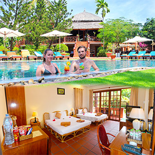 Little Mui Ne Cottages Seaside Resort 3*- Phòng Deluxe Garden View 2N1Đ – Không Áp Dụng Cuối Tuần