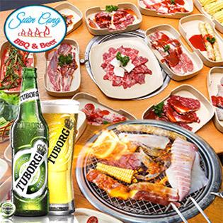 Buffet Tối BBQ Hải Sản, Bò Mỹ & Lẩu – Bao Gồm Bia Tuborg Và Nước Ngọt Không Giới Hạn Tại Sườn Cọng