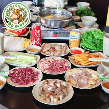 Bò Ngon 555 Linh Đàm: Set Bò Nhúng Dấm Ngon Số 1 Cho 4-6 Người