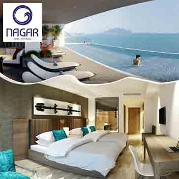 Nagar Hotel Nha Trang 4* 2N1Đ, Ăn Sáng Buffet, Hồ Bơi Vô Cực, Gym, Xông Hơi Miễn Phí - Cho 02 Người