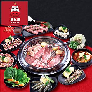 Hệ Thống Aka House - Ưu Đãi Cho Menu Yakiniku Đại Tiệc Buffet Nướng Lẩu Phong Cách Nhật (Đã VAT)