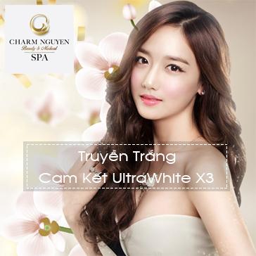 Truyền Trắng Cam Kết UltraWhite X3 Chỉ Với 399K - Spa 5* Charm Nguyễn Spa