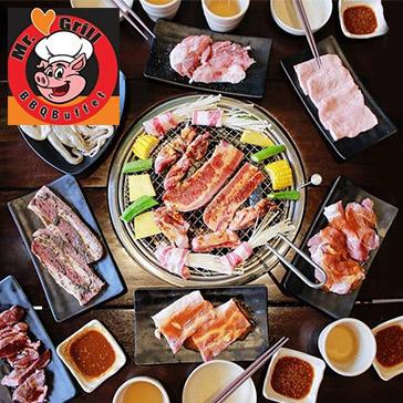 Buffet Mr Grill Bbq - Tối/ Trưa Gần 60 Món BBQ Bò Mỹ, Lẩu, Hải Sản & Sashimi, Sushi