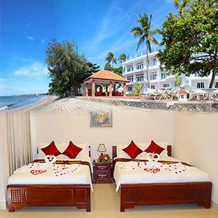 Sand Beach Resort 3* Phan Thiết – 2N1Đ Phòng Deluxe Hướng Biển – Bao Gồm Ăn Sáng + Ăn Trưa + Ăn Tối – Tặng Bánh Kem - Dành Cho 2 Khách