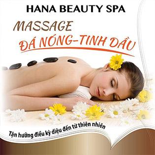 Massage Đá Nóng/ Tinh Dầu Thảo Dược Thư Giãn Toàn Thân (90') Tại Hana Beauty Spa