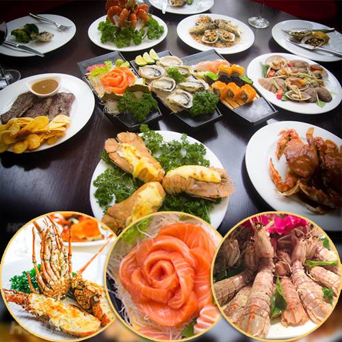 Buffet Sứ: Menu Mới Đẳng Cấp Với Buffet Tối Hải Sản Á & Âu Tại 64 Nguyễn Du
