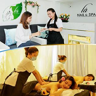Set Body Massage Trị Liệu Cao Cấp 3in1/ Gội Đầu 100% Thảo Mộc/ Gói Nail Sơn Gel Không Hại Móng Tại Lá Nail & Spa