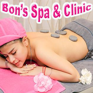 (120') Massage Body + Foot + Xông Hơi + Chạy Vitamin C + Đắp Mặt Nạ + Đắp Gel Lạnh - Bon's Spa & Clinic