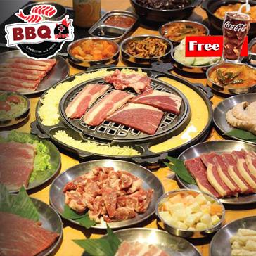 Buffet Nướng Lẩu Hàn Quốc Tại BBQ Plus Times City - Miễn phí CoCa/ Pepsi