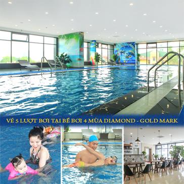 Vé Bơi 5 Lượt Tại Bể Bơi 4 Mùa Diamond - Gofmark + Xông Hơi