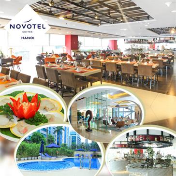 Combo Buffet Trưa Và Bơi Thỏa Thích Tại Bể Nước Mặn Chuẩn Quốc Tế - Khách Sạn Novotel Suites Hanoi