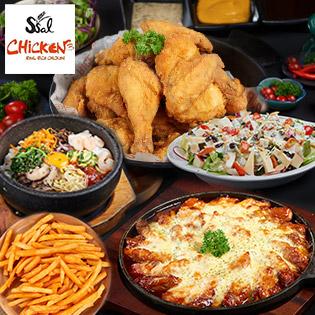 Buffet Tối/ Trưa 60 Món Ssal Chicken – Đại Tiệc Gà BBQ & Món Hàn Quốc Ngon Lừng Danh Không Giới Hạn
