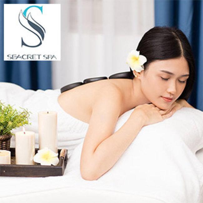 Seacret Spa 5* - (90') Massage Body + Foot + Xông Hơi + Chạy Serum Lạnh/ Chạy Serum Lạnh/ Tắm Dưỡng/ Hấp Trắng/ Giảm Béo