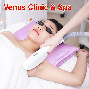 15 Lần Triệt Lông Vĩnh Viễn/ Giảm Béo Siêu Tốc/ Tắm Trắng Toàn Thân + Mặt - Venus Clinic & Spa