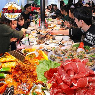 Ưu Đãi Lớn Đoàn Từ 4 Người Trở Lên - Buffet Nướng Thái – Nhật – Hàn Tại Dedi Deli