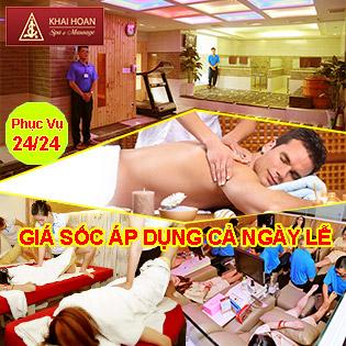 GIÁ SỐC: Buffet Trọn Gói 12 Dịch Vụ Massage & Spa Tại Khải Hoàn – SL Có Hạn!