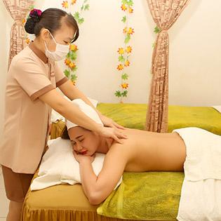 (90') Massage Body + Foot + Đắp Mặt Nạ + Ủ Hộp Đá Muối Trị Đau Nhức - HVTM L'Paradis
