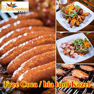 Buffet Trưa 169K Thịt Nướng Brazil Uống Bia Tươi - Coca Thỏa Thích Tại Nhà Hàng Carnaval 145 Trung Hòa