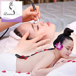 (90') Massage Body + Foot + Xông Hơi + Đắp Mặt Nạ/ 16 Bước 90 Phút Điều Trị Mụn, Thâm Chuẩn Y Khoa/ Chạy Vitamin C - Lavina Spa