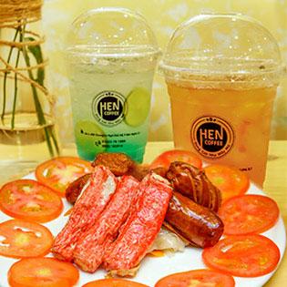 Giải Nhiệt Mùa Hè - HẸN Coffee - Combo 02 Ly Nước + 01 Món Ăn Vặt Bất Kỳ + Free Buffet Bánh Ngọt