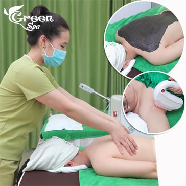 Thư Giãn Massage Cổ Vai Gáy Tặng Liệu Trình Triệt Lông Miễn Phí Tại Green Spa