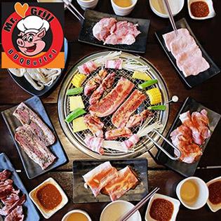 Buffet Mr Grill BBQ - Tối/ Trưa Gần 40 Món BBQ Bò Mỹ, Lẩu, Hải Sản & Sushi