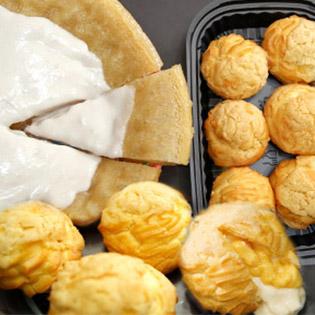 Tan Chảy Với Combo Bánh Bò Thốt Nốt Thần Thánh Nguyễn Sơn Và Set 6 Bánh Su Kem Nhật Tại Ngô Đỏ Bakery