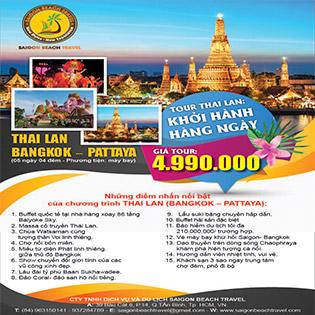 Tour Thái Lan 5N4Đ Giá Cực Shock: Buffet 86 Tầng - Tòa Nhà Tỷ Phú - Massage Cổ Truyền - Colosum Show