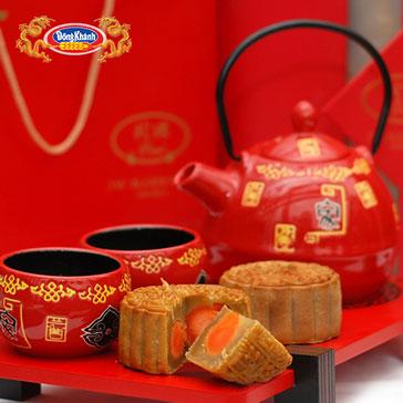 Hộp 4 Bánh Trung Thu 210gr Chính Hiệu Đồng Khánh Bông Lúa Vàng