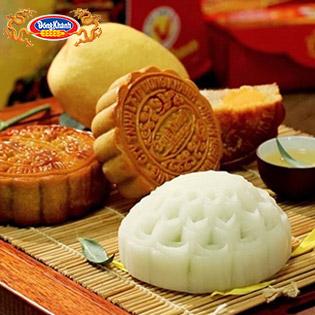 Hộp 4 Bánh Trung Thu Loại 150gr - Chính Hiệu Đồng Khánh Bông Lúa Vàng