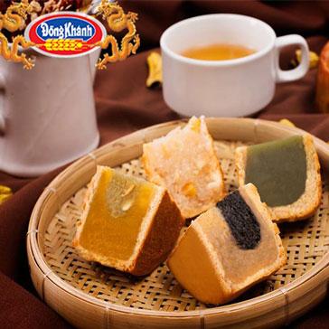 Hộp 4 Bánh Trung Thu Chay 150Gr Chính Hiệu Đồng Khánh Bông Lúa Vàng